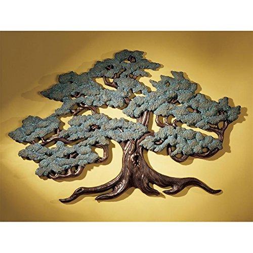 Design Toscano Asian Decor Ancient Tree of Life Wall Sculpture, 37 Inch, Bronze Verdigris Finish