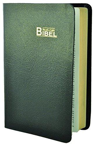 NeueLuther Bibel: Luther 2009 - Lederfaserstoff schwarz - Goldschnitt