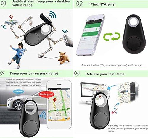 CHIGANT 1PCS Traceur GPS Intelligent Bluetooth Tracker d\'Activité Localisateur Clé d\'Alarme Anti-Perte Animal Enfant Sac Voiture Smart Finder Noir