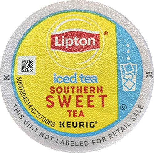 Lipton Iced Southern Sweet Tea single serve pods for Keurig K-Cup pod brewers, 88 Count (Moonshine Sweet Tea)
