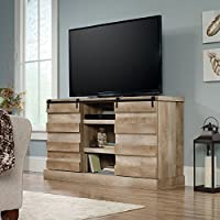 Sauder Cannery Bridge TV Stand in Lintel Oak