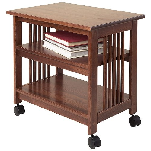 Manchester Wood Mission Printer Cart - Chestnut - Manchester Bedroom Furniture