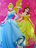 "Disney Princesses ""Royal Roses"" Over-size Fleece Throw Blanket"