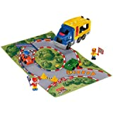 FISHER-PRICE LITTLE PEOPLE RACE CAR CARRIER PLAY SET
