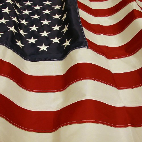 Hanging American Flag (The Best American Flag - US Flag 3 x 5 - Embroidered Stars - Display as Your Garden Flag - Patio Flag or a Replacement Flag for Your Pole Kit - Indoors - Highest Quality Durable 210D Nylon - Brass Grommets – Four Stitches on End will Not Fray)
