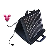 Gomadic SunVolt High Output Portable Solar Power Station designed for the iRiver Mplayer - Can charge multiple devices with outlet speeds