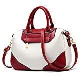 Handbags for Women Red Shoulder Tote Bags Purse Top Handle Designer Ladies Cossbody Bag Faux Leather