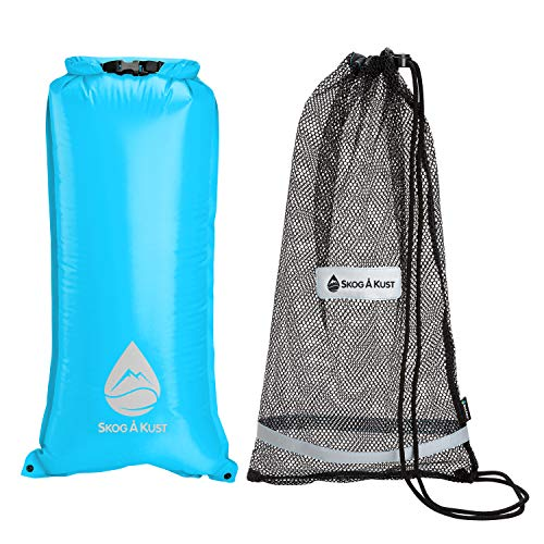 (Skog Å Kust SnorkelSåk 2-in-1 Mesh Snorkel Bag with Removable Interior Waterproof Dry Bag | Blue)