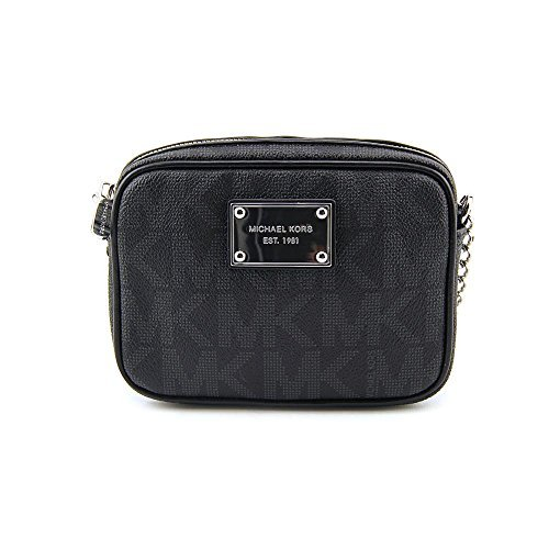 Michael Kors Jet Set Signature Crossbody Bag in Black