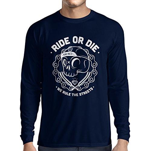 - Long Sleeve t Shirt Men Ride or Die (Large Blue Multi Color)