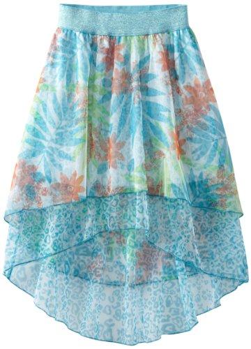 My Michelle Big Girls' Printed 2 Tiered Hi-Low Skirt