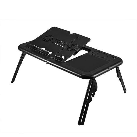 Mesa de Ordenador portátil Ajustable, Mesa Plegable para Ordenador portátil, Mesa de refrigeración con