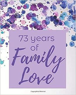 Amazon.com: 73 Years of Family Love: 73rd Birthday - Moms ...