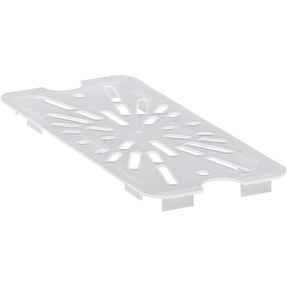 Cambro 30PPD190 1/3 Size Polycarbonate Drain Shelves, Translucent (6/Case)