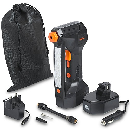 VonHaus Cordless Digital Tyre Inflator Pump - Handheld Battery Operated Air...