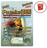 PremierZEN Platinum 5000 (1) Pack, Natural Male Performance Booster, Increase Energy & Stamina Bundle w/Booklet (2 Items)