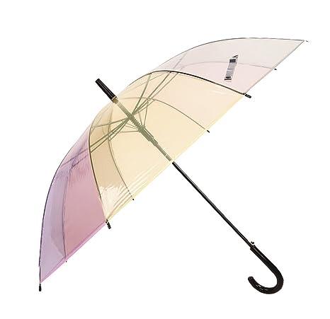 LXY Paraguas paraguas de PVC transparente que hace juego paraguas paraguas pequeño paraguas coreano semi-