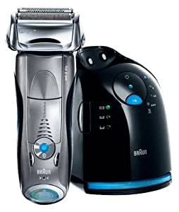 Braun Series 7 790cc Wet & Dry shaver with Clean & Charge station and travel pouch, silver