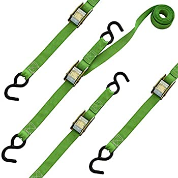 """SMARTSTRAPS 10-Foot Cambuckle (4pk) 900 lbs Break Strength, 300 lbs Safe Work Load, Tie Down Fragile and Lighter Loads for Transport,€"""" Offers More Security Than Rope"""