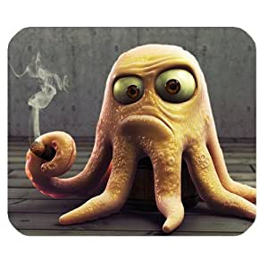 Octopus Smoking Personalized Rectangle Mouse Pad