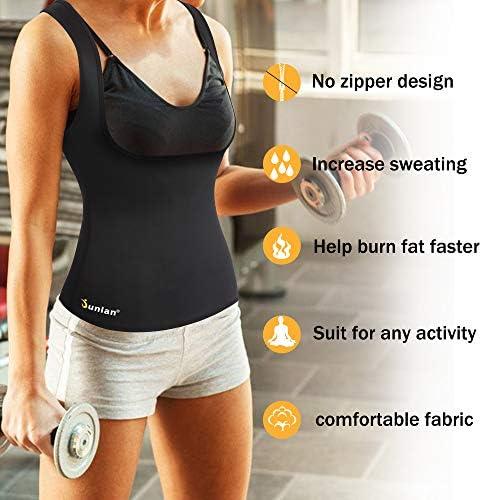 Junlan Neoprene Waist Trainer Vest for Women Corset Workout Body Shaper Cincher Sauna Sweat Tank Top Workout Girdle 4