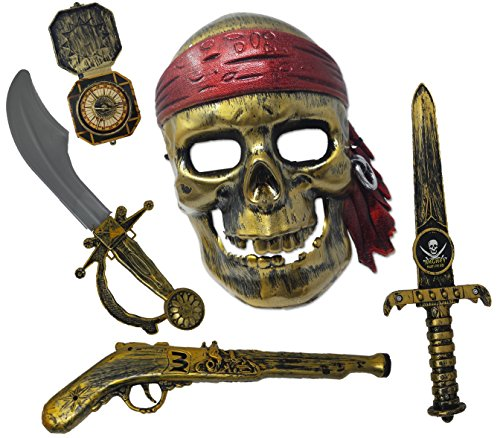 Play Kreative Halloween Pirate Costume Set W/Accessories – Pirate Role Play Set
