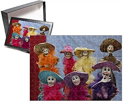 Photo Jigsaw Puzzle of Mexico. Skeletal Catrinas, figures celebrating Dia de Los Muertos