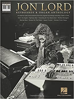 Book Jon Lord: Keyboards and Organ Anthology - Keyboard Recorded Versions