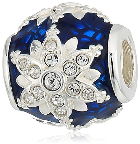 chamilia crystal magic accent - swarovski crystal with blue bassetaille enamel detail charm ()