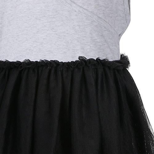 Manches Bébé Filles Toddle Robe Tutu Jupes Courtes En Tulle De Bande Mini Robe Y1-noir