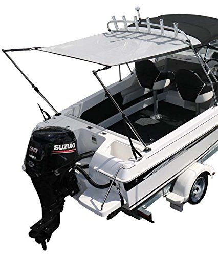 (Oceansouth Bimini Extension Airflow Boat Shades, Extends up to Length 66