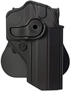 Black Imi-z1270 - Polymer Holster for Jericho/baby-eagle (9mm/.40), Sarsilmaz Kilinc Mega 2000, Canik 55 Shark