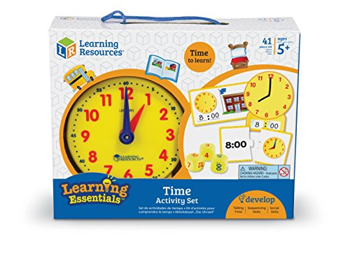 51WvDI6eTRL - Learning Resources Time Activity Set, 41 Pieces