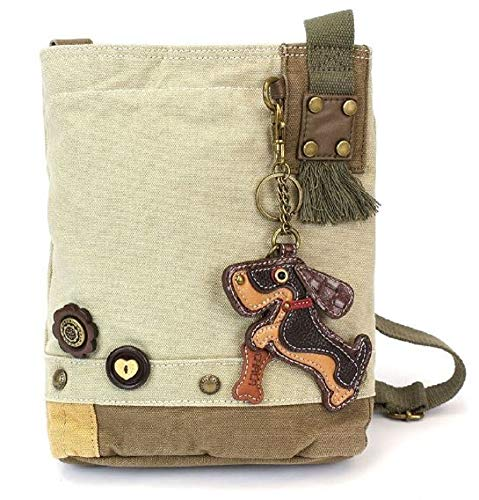 "Chala Patch Crossbody Bag - ""Weiner Dog"" - Sand for sale  Delivered anywhere in USA"