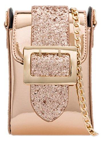 Girly Glitter Buckle Champagne Clutch Bag Glitter HandBags Buckle Girly HandBags CPqpt