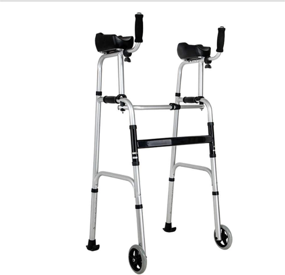 *WTTFF* Andador estándar para Personas Mayores, pie Ajustable, con Almohadilla para reposabrazos, Adecuado para Personas con Movilidad Reducida, andadores Plegables con Ruedas