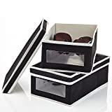 Home Intuition Shoe Box Organizer with Window - 2 Pack (Any Color Will Do)