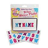 Ride Along Dolly Kid's Bicycle Customizable License Plate Make Your Own Bike Name Plate - Includes Over 150 Letter and Number Stickers