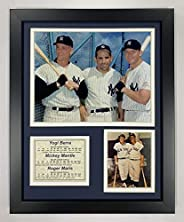 Legends Never Die New York Yankees Yogi Berra, Mickey Mantle and Roger Maris Framed Photo Collage, 11x14-Inch