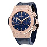 Hublot Classic Fusion Blue Sunray Dial 18K King Gold Automatic Mens Watch 521.OX.7180.LR