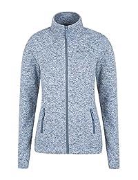 Mountain Warehouse Idris Womens Full Zip Womens Fleece Blue 8