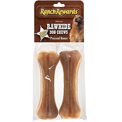 Ranch Rewards Rawhide Pressed Bones 2 Pack (Flavored Compressed Rawhide)