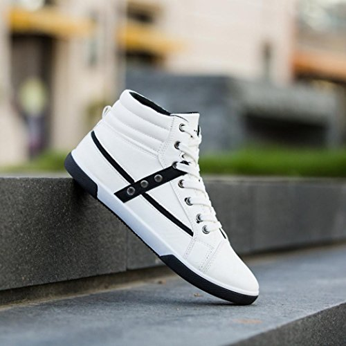 Clearance❤️Men Shoes, Neartime Fashion Men Autumn Leather Footwear Boots High Top Lace-Up Casual Hiking Shoes by Neartime Sandals (Image #5)