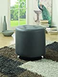 Large Round Ottoman for Sale Coaster Home Furnishings Round Upholstered Ottoman Grey