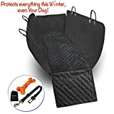 #8: Dog Seat Cover Dog Car Seat Cover Car Seat Cover for Dog Hammock Back Seat Cover for Dogs Rear Bench Protector for Large Small Dogs Waterproof Side Flaps Non Slip Washable for Cars Trucks SUVs Sedans