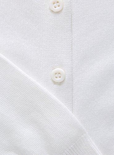 oodji Collection Mujer Chaqueta Básica de Viscosa Blanco (1200N)