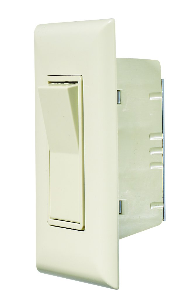 RV Designer S843, Self Contained Contemporary Touch Switch with Cover Plate, Speedwire, Ivory