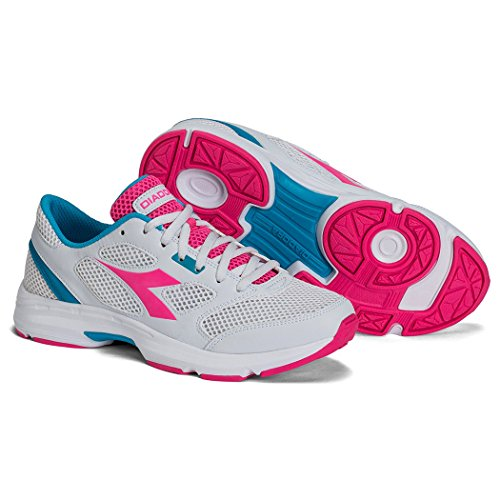 Unisex 7 ROSE BRIGHT Diadora Shoes Adults' Shape SILVER Running DD tOqSwd