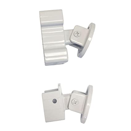 Peak Aluminum Railing White Aluminum Stair Rail Bracket Kit