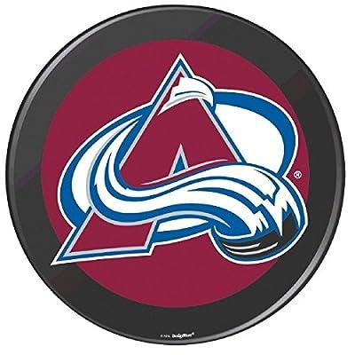 "Colorado Avalanche Black Hockey Puck Laminated Cardstock Cutout NHL Hockey Sports Party Decoration, 12""."